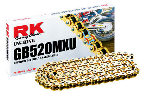 RK MXU Gold racing motorcycle chain
