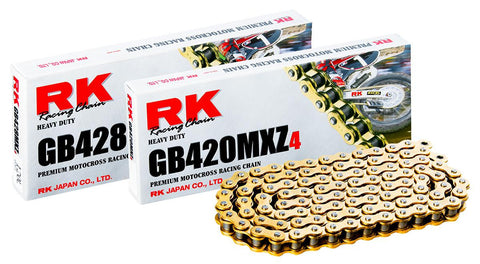 RK 420/428 MXZ4 Gold Chain (130 link)