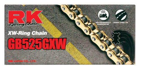 RK Gold 525 GXW Chain