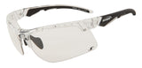 Sunglasses for running - Crystal Black Frame w Smoke Lenses