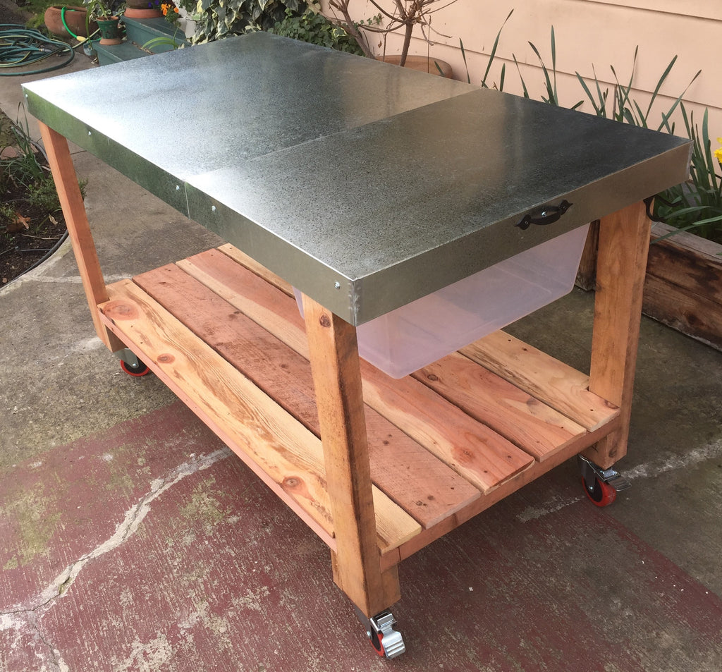 Exceptional Potting Table Part - 14: Potting Table - Sheet Metal Top