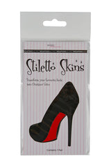 Stiletto Skins Shoe Stickers red