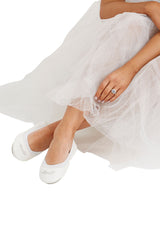 Bridal Fold Up Ballet Flats Wedding Shoes