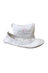 White Foldable Wedding Ballet Flats for Brides