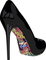 Stiletto Skins Shoe Stickers Komic Kaption