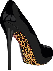 Stiletto Shoe Stickers Leopard