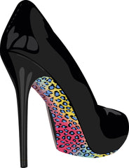 Stiletto Skins Shoe Stickers Rainbow