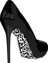 Stiletto Skins Shoe Stickers Snow Leopard