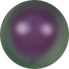Swarovski Crystal Pearls (Round Large-Hole) Crystal Iridescent Purple Pearl 5811 16 MM