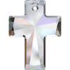 Swarovski Crystal Pendant (Cross) Crystal AB 'V' 6864 40 X 30 MM