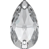 Swarovski Sew On Stones (Pear) Crystal Foiled 3230 28 X 17 MM