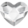 Swarovski Hot Fix Flat Back Crystals (Heart) Crystal Folied 2808 / 6 MM