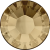 Swarovski Hot Fix Flat Back Crystals (Round) Crystal Golden Shadow Foiled 2038 SS 6