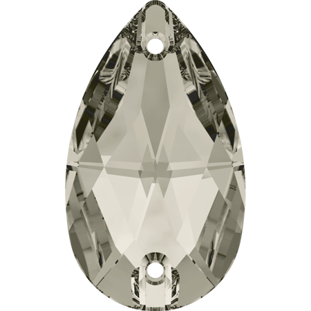 Swarovski Sew On Stones (Pear) Crystal Satin Foiled 3230 12 X 7 MM