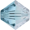 Swarovski Crystal Bead (Bicone) Aquamarine Satin 5328 4 MM