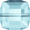 Swarovski Crystal Bead (Cube) Aquamarine 5601 8 MM
