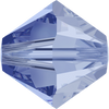 Swarovski Crystal Bead (Bicone) Light Sapphire Satin 5301 4 MM