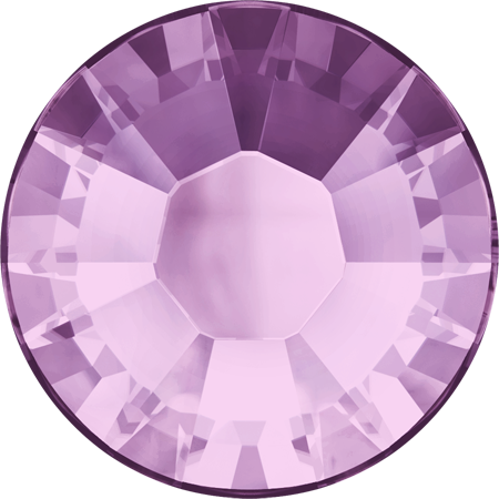 Swarovski Hot Fix Flat Back Crystals (Round) Light Amethyst Foiled 2038 SS 20