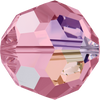 Swarovski Crystal Bead (Round) Light Rose AB 5000 8 MM