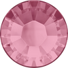 Swarovski Hot Fix Flat Back Crystals (Round) Light Rose Foiled 2038 SS 6