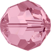 Swarovski Crystal Bead (Round) Light Rose 5000 8 MM
