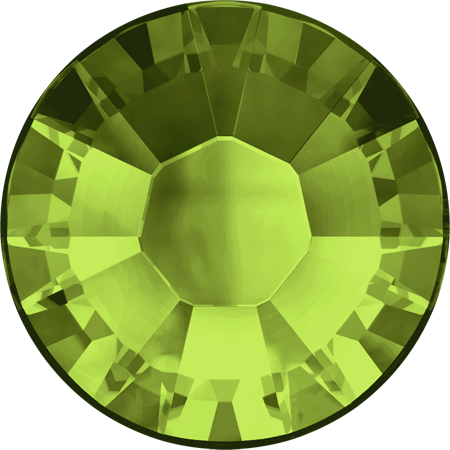 Swarovski Hot Fix Flat Back Crystals (Round) Olivine Foiled 2038 SS 6