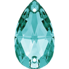 Swarovski Sew On Stones (Pear) Blue Zircon Foiled 3230 12 X 7 MM