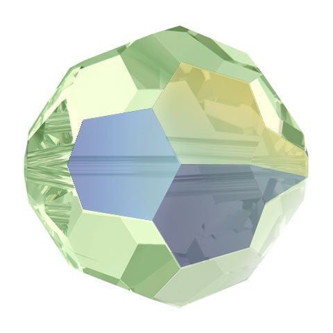 Swarovski Crystal Bead (Round) Chrysolite AB 5000 8 MM