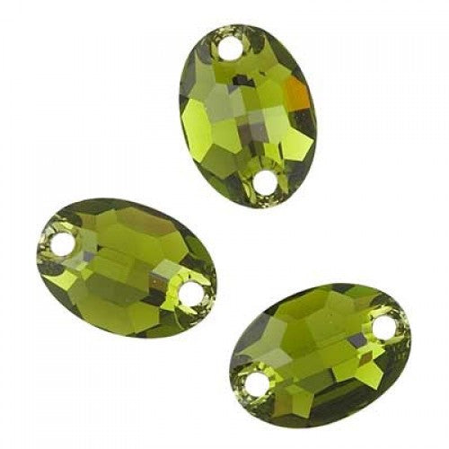 Swarovski Sew On Stones (Oval) Olivine Foiled 3210 10 X 7 MM