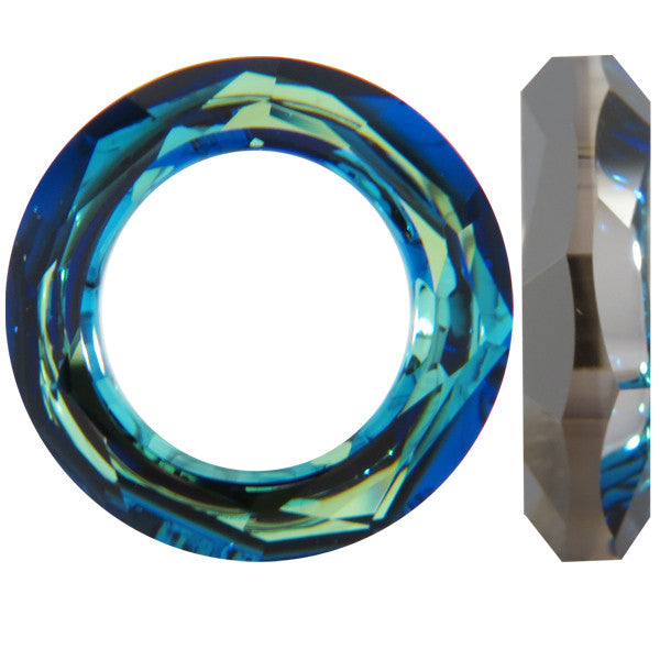 Swarovski Fancy Stone (Cosmic Ring) Crystal Bermuda Blue Unfoiled 4139 20 MM