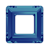 Swarovski Fancy Stone (Square Ring) Crystal Bermuda Blue Unfoiled 4439 30 MM