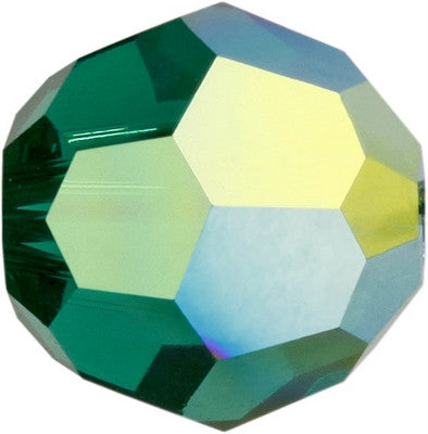 Swarovski Crystal Bead (Round) Emerald AB 5000 8 MM
