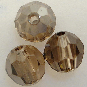 Swarovski Crystal Bead (Round) Light Colorado Topaz Satin 5000 4 MM