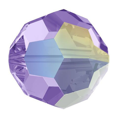 Swarovski Crystal Bead (Round) Tanzanite AB 5000 8 MM