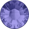 Swarovski Hot Fix Flat Back Crystals (Round) Tanzanite Foiled 2038 SS 12
