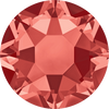 Swarovski Hot Fix Flat Back Crystals (Round) Padparadscha Foiled 2078 SS 16