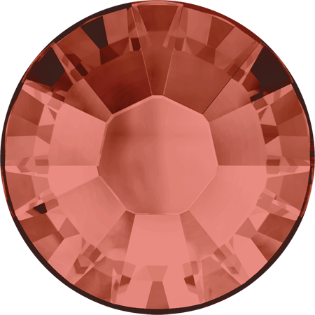 Swarovski Hot Fix Flat Back Crystals (Round) Padparadscha Foiled 2038 SS 34
