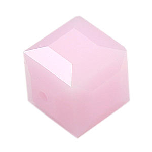 Swarovski Crystal Bead (Cube) Rose Alabaster 5601 8 MM