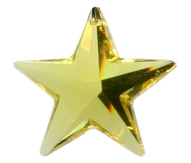 Swarovski Crystal Pendant (Star) Light Topaz 6714 28 MM (8815)