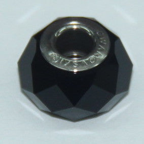 BeCharmed Briolette Bead Jet 5948 / 14 mm Steel