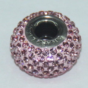 BeCharmed Pavé Light Rose 80101 / 14 mm Steel