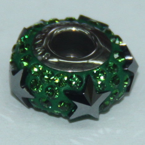 BeCharmed Pavé Christmas Edition Jet Hematite & Dark Moss Green 81702 / 13.5 mm Steel