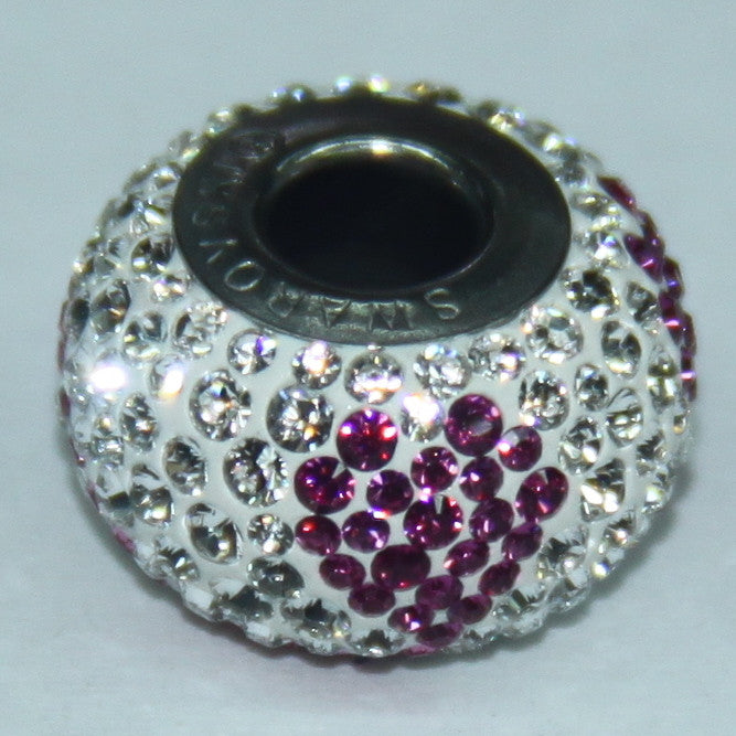 BeCharmed Pavé Limited Edition Crystal & Rose 84363 / 14 mm Steel