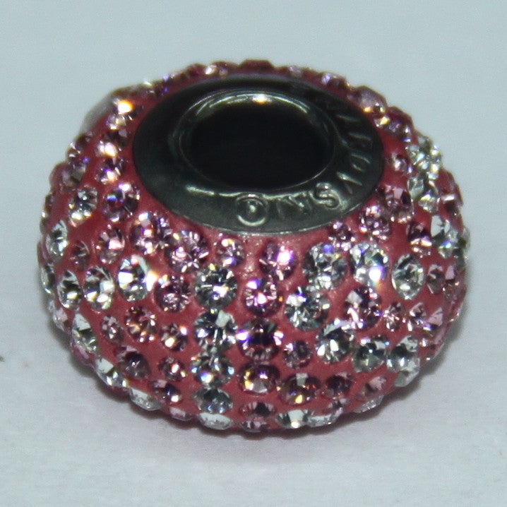 BeCharmed Pavé Limited Edition Light Rose & Crystal 84432 / 14 mm Steel