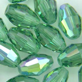 Swarovski Crystal Bead (Modular) Erinite AB 5200 9 X 6 MM