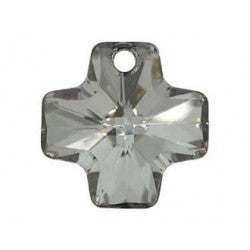 Swarovski Crystal Pendant (Cross) Crystal Metalic Silver 6866 20 MM