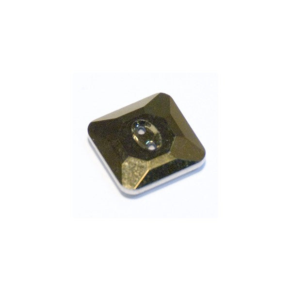 Swarovski Crystal Button (Square) Crystal Dorado Foiled 3017 12 MM