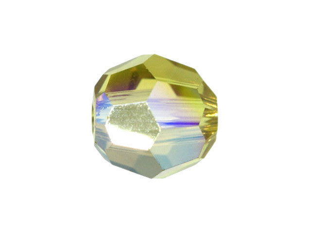 Swarovski Crystal Bead (Round) Lime AB 5000 8 MM
