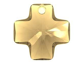 Swarovski Crystal Pendant (Cross) Light Colorado Topaz 6866 20 MM