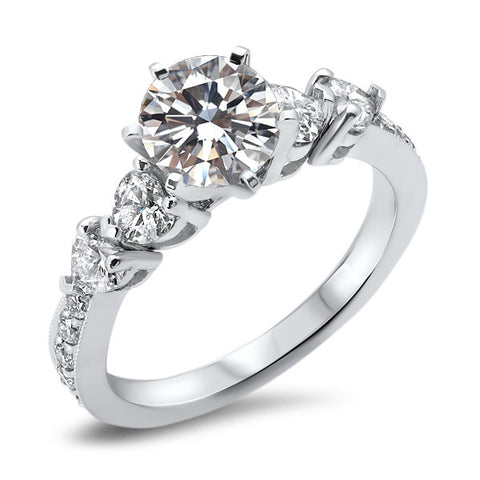 1 CT Round Diamond Engagement Ring
